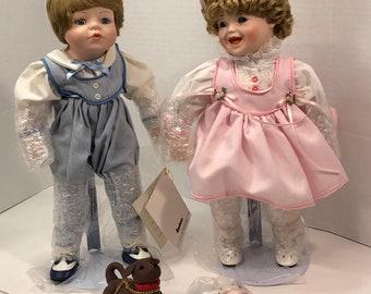 Darla and Denny Porcelain Dolls Moments Treasured