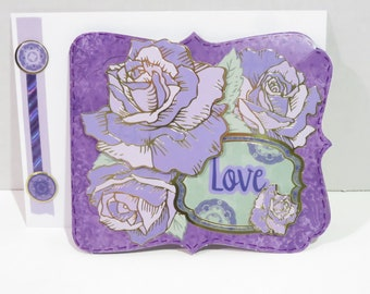 Love Easel Card - Anniversary card