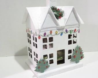 Christmas House Mini Album Decoration Keepsake