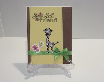Hello Friend/Just Because/Miss You Card