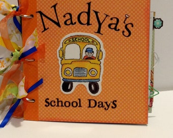 Personalized Custom School Years Scrapbook Paper Bag Album