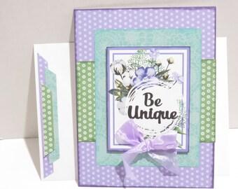 Be Unique Encouragement card