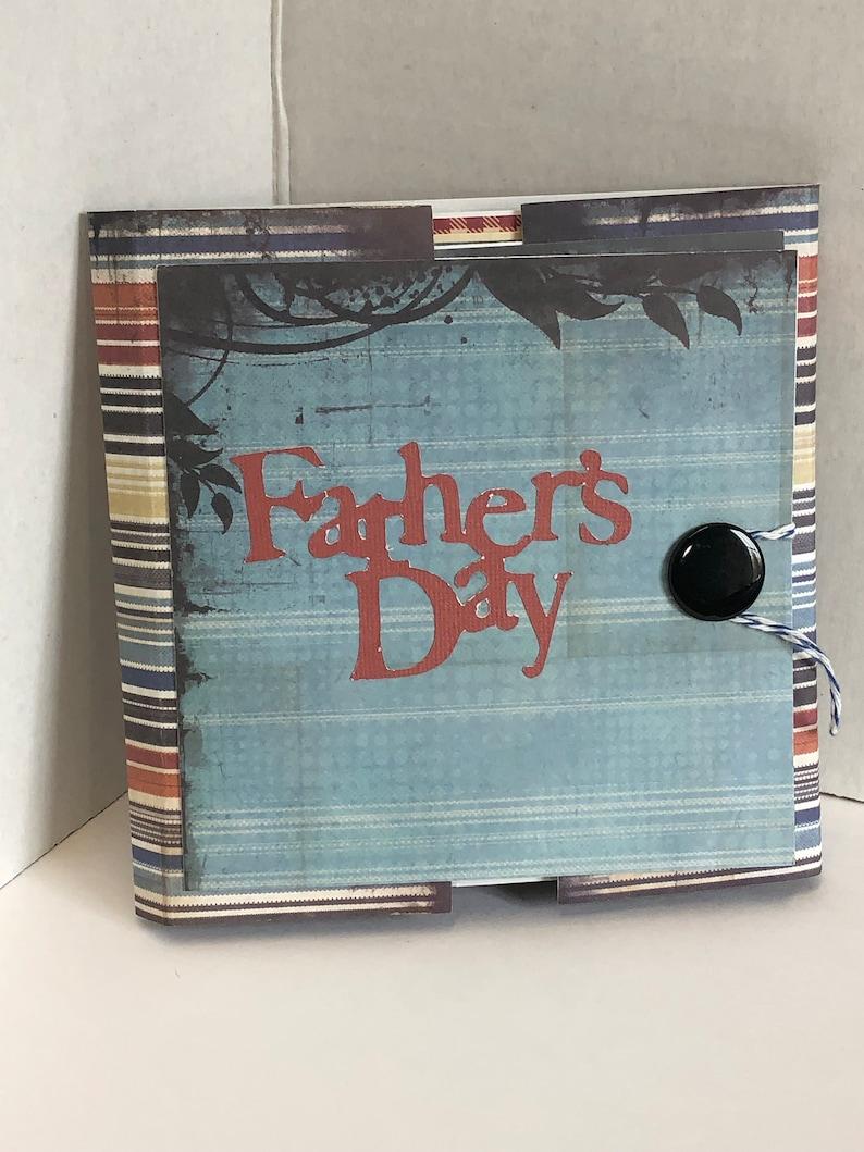 Father's Day Card Mini-Album Keepsake image 0