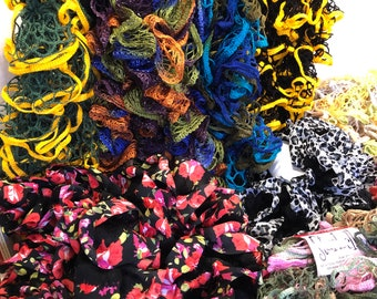 Ruffle Scarf Assortment - Pittsburgh Pirates/Steelers, Oakland A's, Green Bay Packers