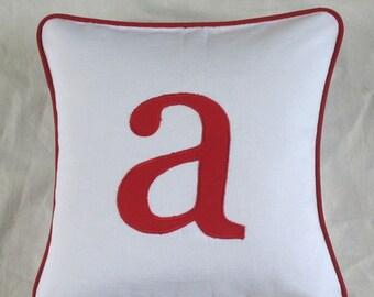 Monogram pillows. Letter pillow. Parsnalize pillow. Lower case monogram pillows. Nursery decor. Kids room Custom Made-16 inch cushion cover