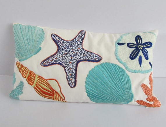 Beach Pillow Sea Themed Throw Pillow Coastal Decor Beach Etsy Simple Beach Themed Decorative Pillows