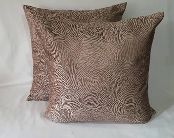 On sale, Brown luxury pillow, lovely decorative couch pillow cover. Ivory pillow cover. 18x18 inches  instock pillow cover. 30%off.