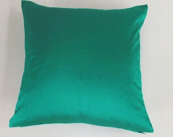 Jade green dupioni silk throw pillow decorative  green cushion cover jade green throw pillow. Custom made. Oblong and square cushion covers
