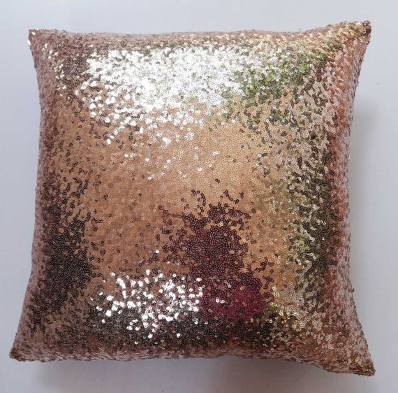 Copper Sequin Pillow Mettaic Accent Pillow Decorative Pillow Etsy Awesome Sparkly Decorative Pillows