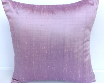 On sale, Lavender dupioni silk decorative  pillow cover pastal throw pillow, lilac cushion cover. Move pillow. Amethyst silk pillow. 20% off