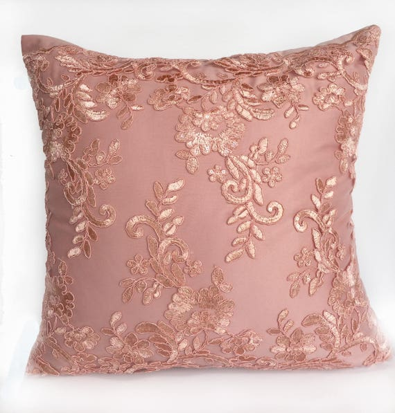 Peach Lace Pillow Luxury Decorative Pillow Embroidered Etsy Adorable Upscale Decorative Pillows
