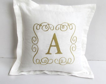custom made monogram pillow 16 inch letter pillow custom made - color and letters can be changed.