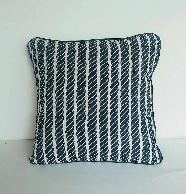 Attrayant Navy Blue Sea Themed Pillow. Navy Blue And White Beach Decor.   Etsy