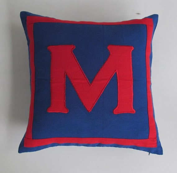 Monogram Pillow Cover Letter A Coral
