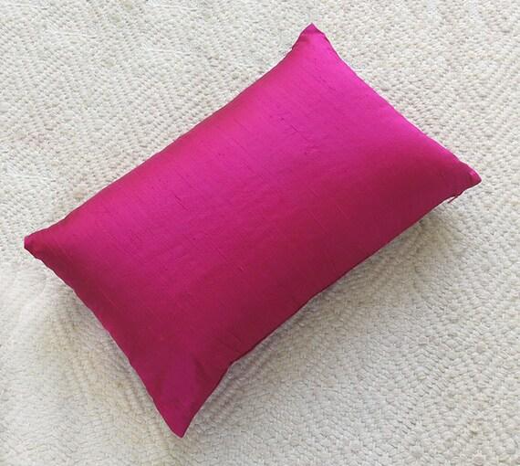 Fuchsia Pink dupioni silk pillow