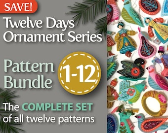 twelve days series complete 1 12 pdf pattern bundle a discounted set of all twelve patterns