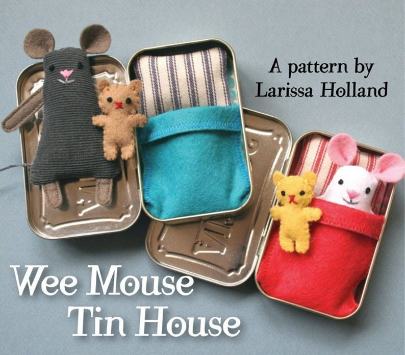 Wee Mouse Tin House PDF pattern image 0