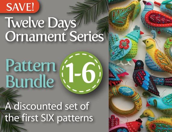 Twelve Days Series 1 6 Pdf Pattern Bundle Partridge Pear Etsy