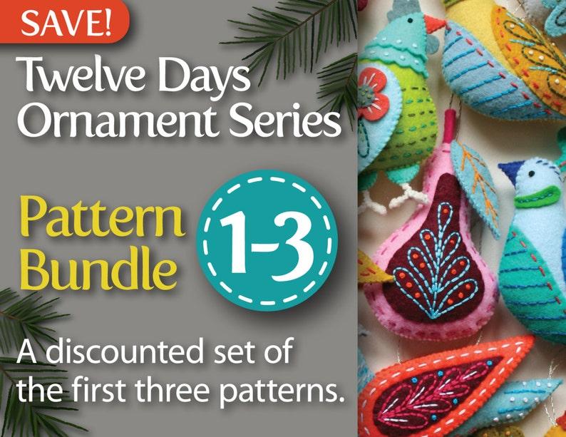 Twelve Days Series 1-3 PDF Pattern Bundle: Partridge & Pear image 0