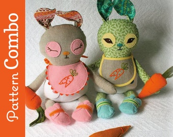 Baby Binky Bunny/Bib And Booties PDF Pattern Combo