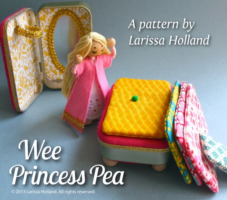 Wee Princess Pea PDF pattern for a purse-sized fairy tale image 0
