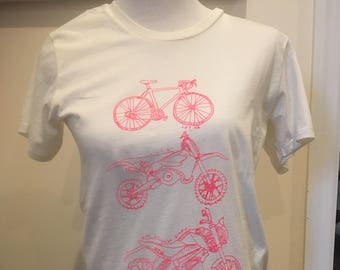 Let Me Love All The Bikes Bicycle Moto T-Shirt Eco-friendly Alternative - For Bike Lovers - Can Be Printed In Any Size as Per Your Request