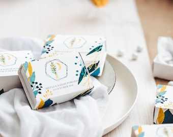 Personalized Wedding Favor Boxes   Matchbox Candy Boxes   Wedding Favors for Guests   Sets of 4, 8 or 12