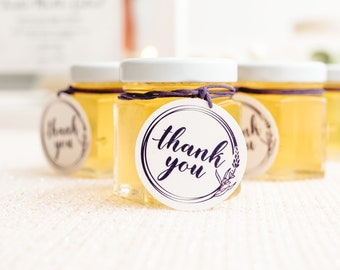 Honey Jar Wedding Favors   Honey Edible Wedding Favor   Personalized Thank You Labels and Tags   Custom Guest Favors