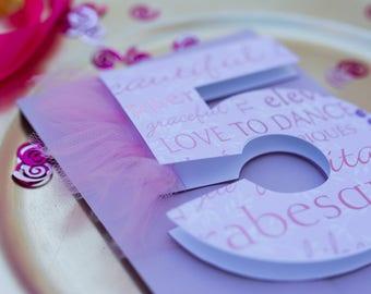 5th Birthday Card - Ballerina Birthday Card - Number Birthday Card - Happy Birthday Card - 5 Birthday Girl Card - Dance Birthday Card
