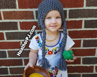 Any Size or Color Braided Wig Crochet for All Sizes Baby, Newborn, 3 Month, 6 Month,