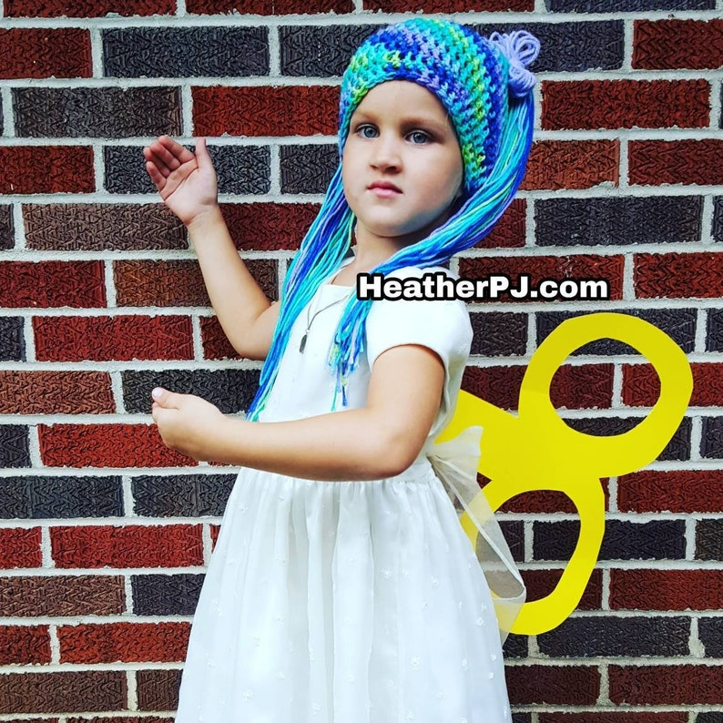 Any Size or Color Crocheted Hat Beanie Hat Pigtails Ponytail image 0