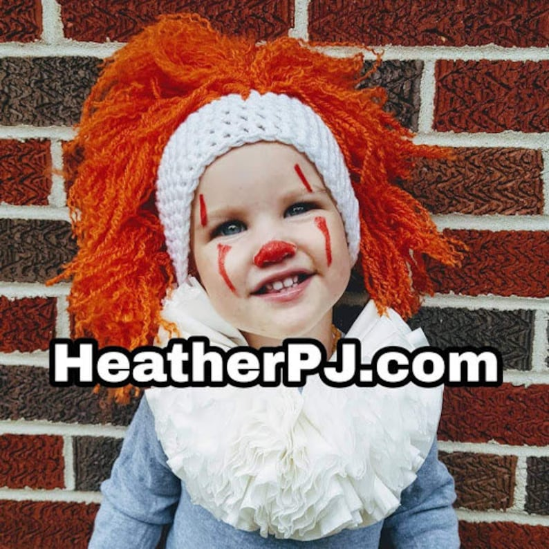 Clown Wig Crochet for All Sizes Baby Newborn 3 Month 6 image 0