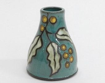 Yellow Wattle Bud Vase