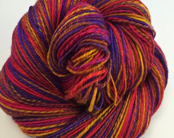 Sari Batik Handspun Yarn Fingering Sock 450 yds