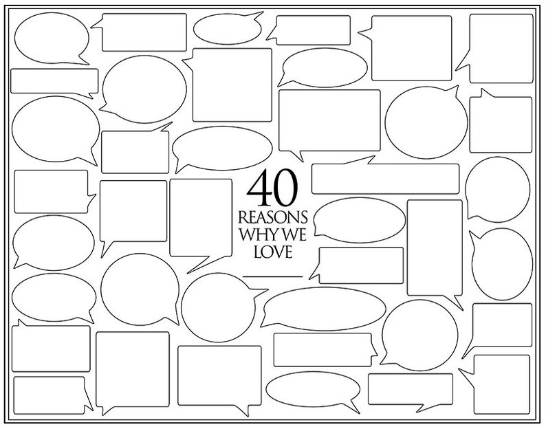 Personalized Birthday Present  40 Reasons We Love You  image 0