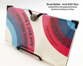 And Still I Rise Book Cover Wallet - Maya Angelou Book Wallet - Credit Card Holder - Inspirational Gift - Young Woman Gift - Mothers Day