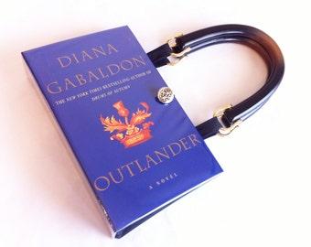 Outlander book purse outlander book clutch outlander book etsy outlander recycled book purse outlander crossover bag outlander book cover handbag sassenach gift outlander book clutch fandeluxe Images