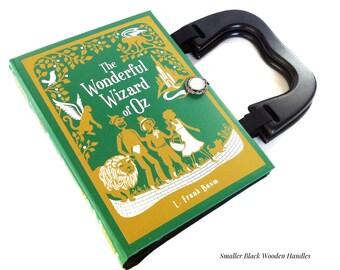 Wizard of Oz Recycled Book Purse - Wizard of Oz Book Clutch - Emerald City Book Purse - Girl Book Purse - Wizard of Oz Gift - OzLand