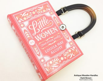 Little Women Book Purse - Book Lover Gift - Louisa May Alcott Recycled Book Clutch - Sister Gift - Literary Gift - Bookish Wedding Handbag