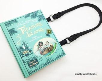 Treasure Island Book Purse - Pirate Book Clutch - Robert Louis Stevenson Book Cover Handbag - Bookish Literary Gift - Book Lover Gift