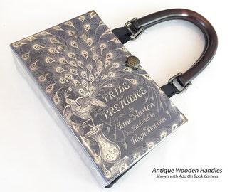 Pride and Prejudice Book Purse - Jane Austen Book Cover Handbag - Pride and Prejudice Book Clutch - Jane Austen Bookish Fashion