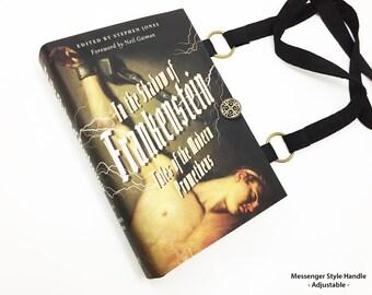 Frankenstein Book Purse - Mary Shelley Book Cover Handbag - Frankenstein Crossbody Book Bag - Horror Accessory - Purse from a book
