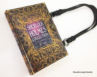 Sherlock Holmes Book Purse - Sherlock Book Cover Handbag - Dr Watson Book Clutch - Victorian Crime Book Purse - Mystery Reader Gift