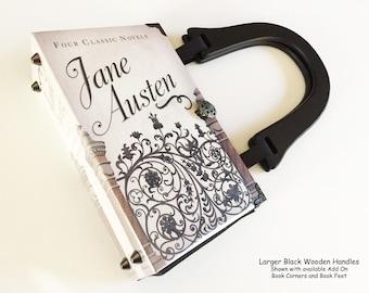 Jane Austen Book Purse - Jane Austen Recycled Book Bag - Pride and Prejudice Book Purse - Literary Book Bag - Persuasion Book Cover Handbag