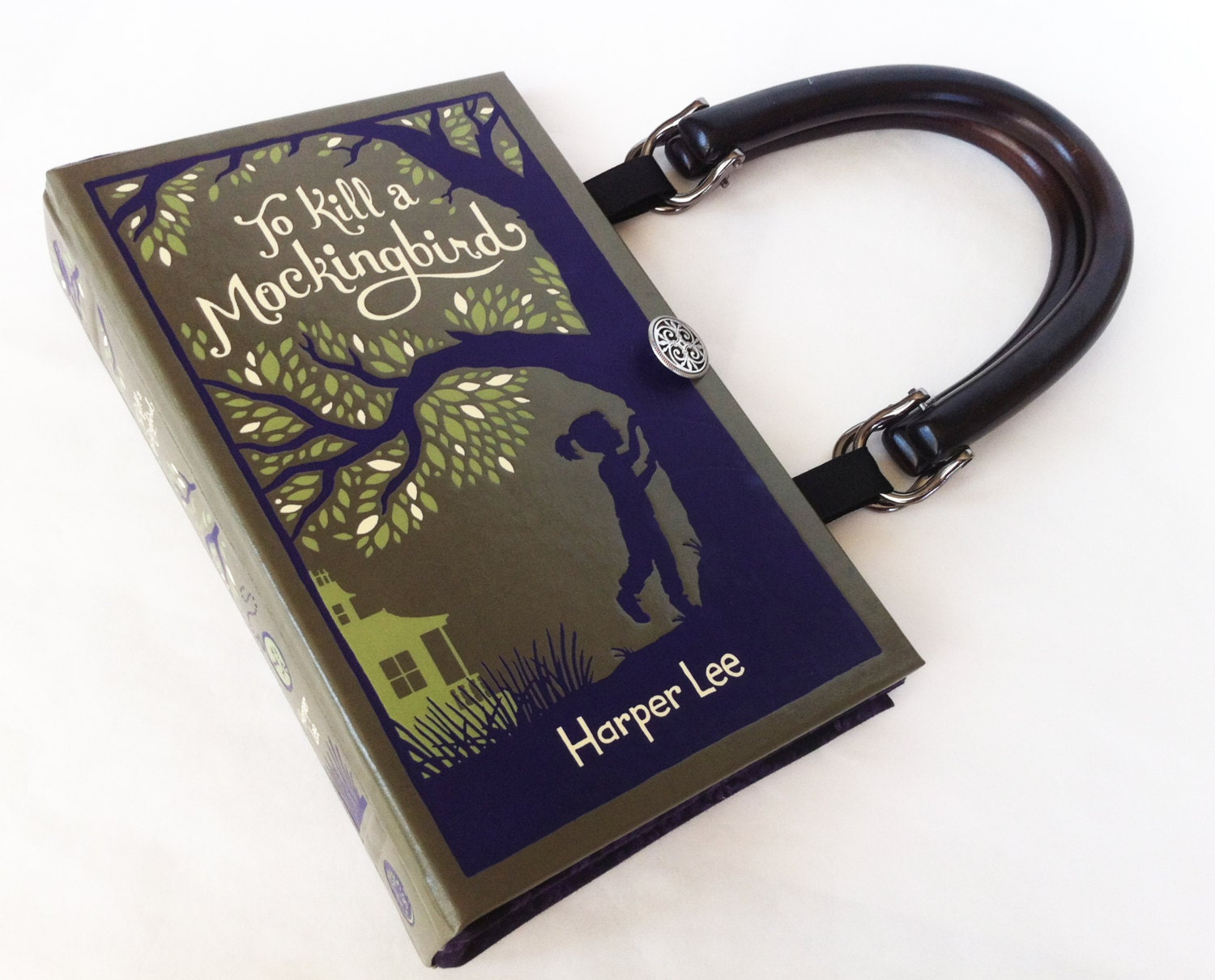 To Kill A Mockingbird Recycled Book Purse - Leather bound Book Purse - Banned Book Purse - Book Cover Handbag - Literary Gift