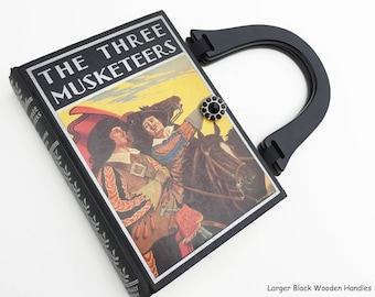 The Three Musketeers Recycled Book Purse - All For One and One For All - 3 Muskateers Vintage Book Cover Handbag - Alexandre Dumas Book Bag