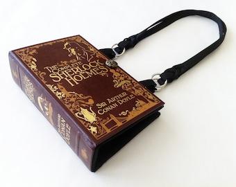 Sherlock Holmes Book Purse - Sherlock 221B Baker Street Wallpaper Fabric Choice - Sherlock Book Cover Handbag