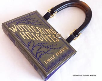 Wuthering Heights Book Purse - Emily Bronte Recycled Book Clutch - Bookish Wedding Theme Pocketbook - Purse made from a book - Jane Eyre
