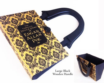 Complete Tales of Edgar Allan Poe Recycled Book Purse - The Pit and The Pendulum Book Purse - Poetry Book Cover Handbag