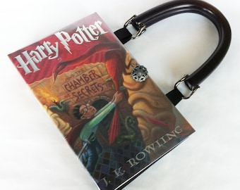 Harry Potter and the Chamber Of Secrets Book Purse - Harry Potter Book Clutch - Harry Potter Collector Gift - Purse made from a book